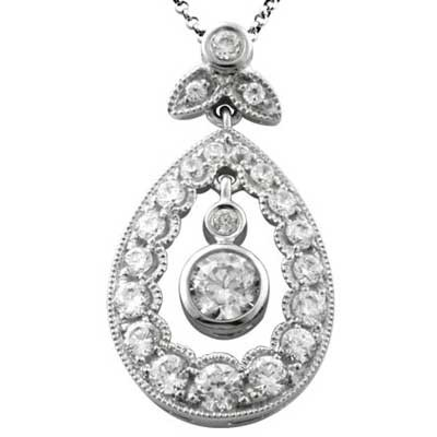 Pendant 14k White Gold F9187