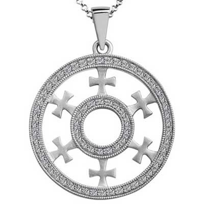 Pendant 14k White Gold F9231