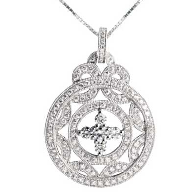 Pendant 14k White Gold F9234