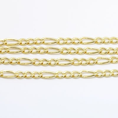 Figaro Style Chain in 14k Yellow Gold GCF