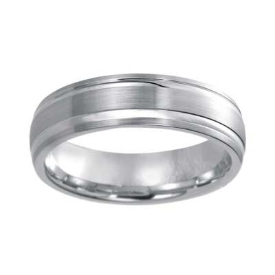 6mm Wedding Band 10k White Gold W93921-6