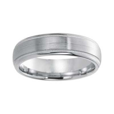 6mm Wedding Band 10k White Gold W93930-6