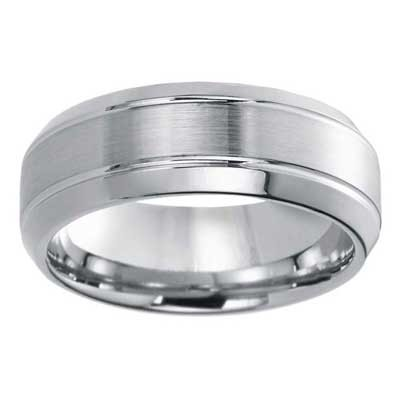 8mm Wedding Band 10k White Gold W94908-8