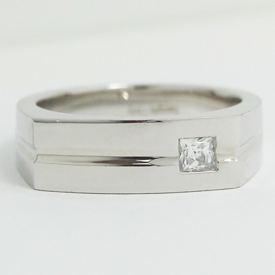 Men's Diamond Ring 14k White Gold G94091