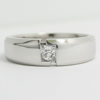 Men's Diamond Ring 14k White Gold G94094