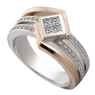 Anniversary Ring 14k White & Rose Gold L93769