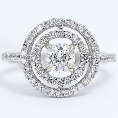 Soleste Diamond Engagement Ring 18K White Gold