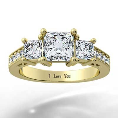 Heart Shaped Filigree Design Engagement Setting 14k Yellow Gold