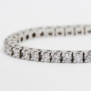 3.00 Carats Claw Set Tennis Bracelet 14k White Gold WTB3
