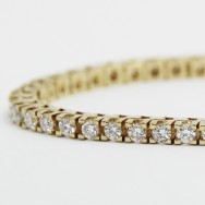 3.00 Carats Claw Set Tennis Bracelet 14K Yellow Gold YTB3
