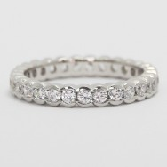 3.0mm Half Bezel Style Eternity Band 14k White Gold