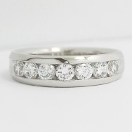 4.5-5.5mm Channel set Diamond Wedding Band 14k White Gold
