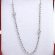 Diamonds and Chain in 14k White Gold GCD