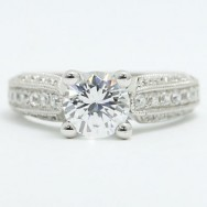 E93521 Three Sided Pave Diamond Engagement Ring 14k White Gold.jpg
