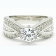 Elegant Style Triple Row Tapered Band in 925 Sterling Silver