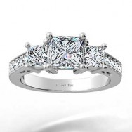 Heart Shaped Filigree Design Engagement Setting 14k White Gold