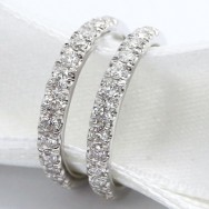 Jacket Diamonds Wedding Band 14k White Gold DWB-01