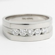 Men's Diamond Ring 14k White Gold G93176