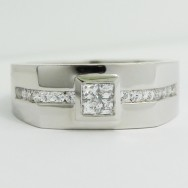 Men's Diamond Ring 14k White Gold G93970